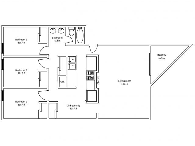 Apartments 12, 21, 22