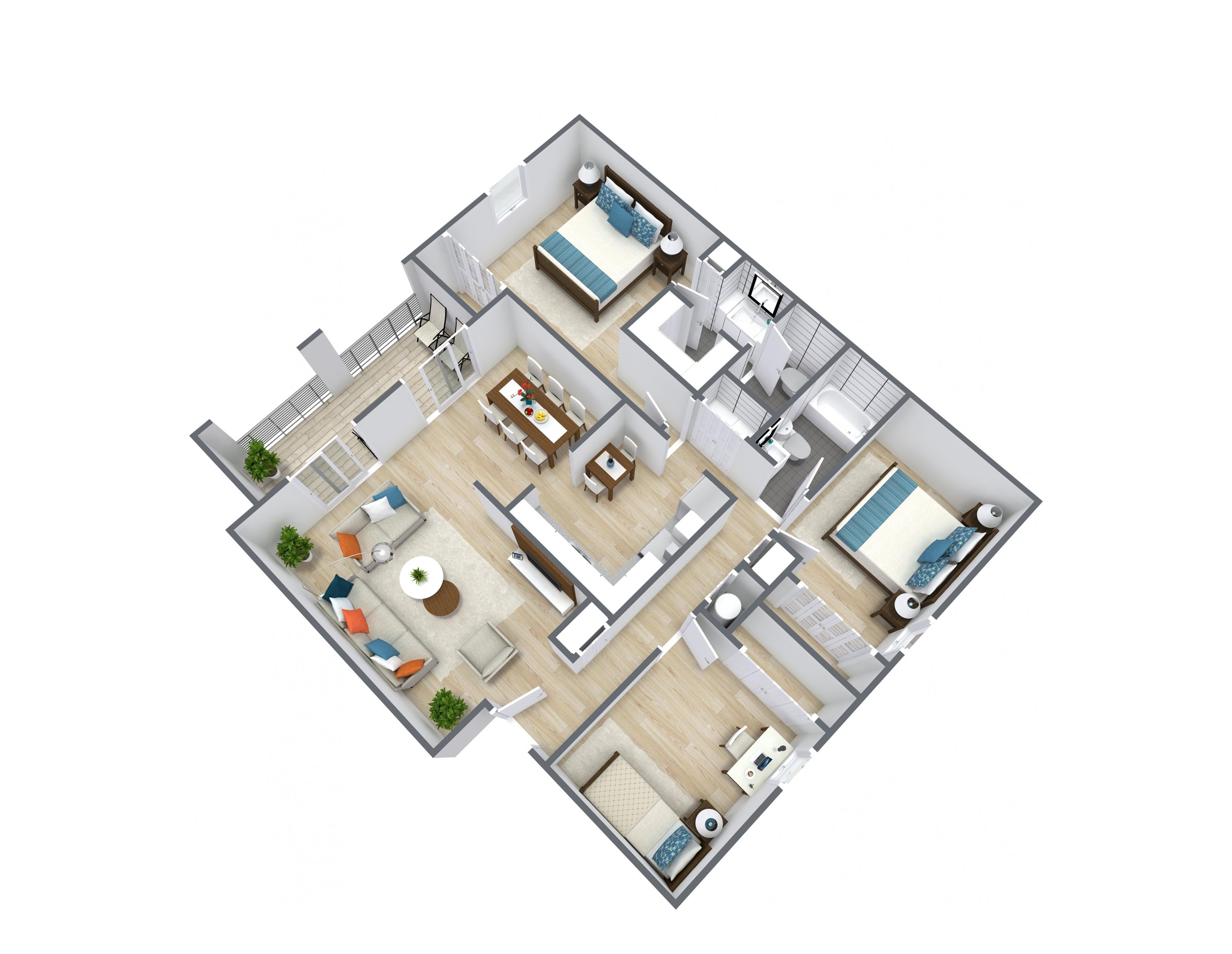 3x2 Floor Plan Layout
