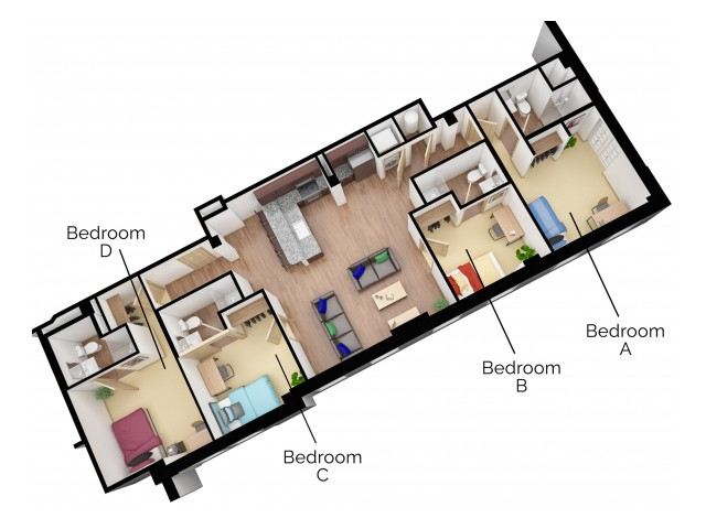 D2 Floor plan layout
