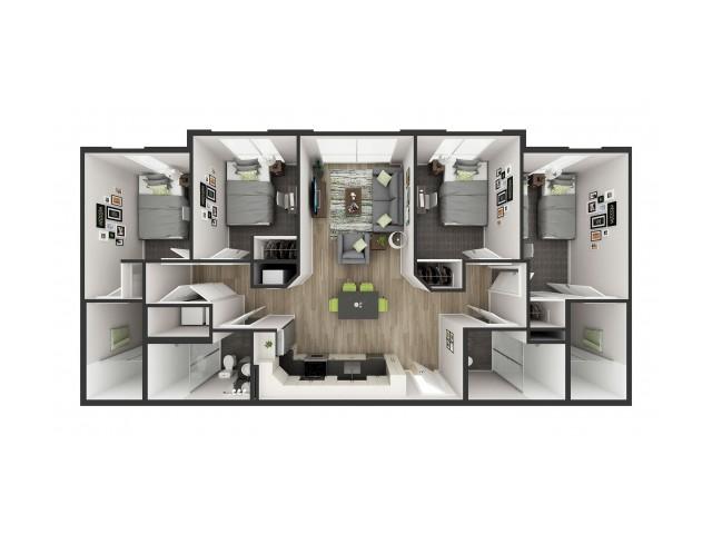 D3 Floor plan layout