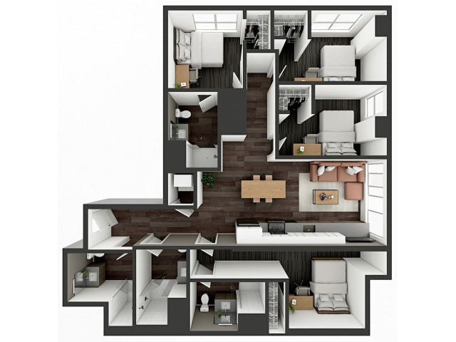 D3 Floor plan layout
