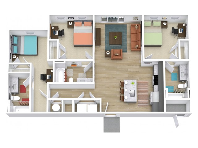 C1 Floor plan layout