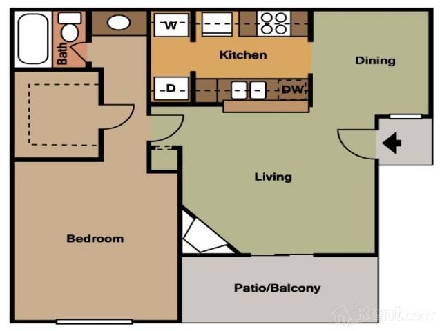 Floor Plan 2   Houston Apartments For Rent   La Esencia. 2 Bedroom Apartments Houston   La Esencia