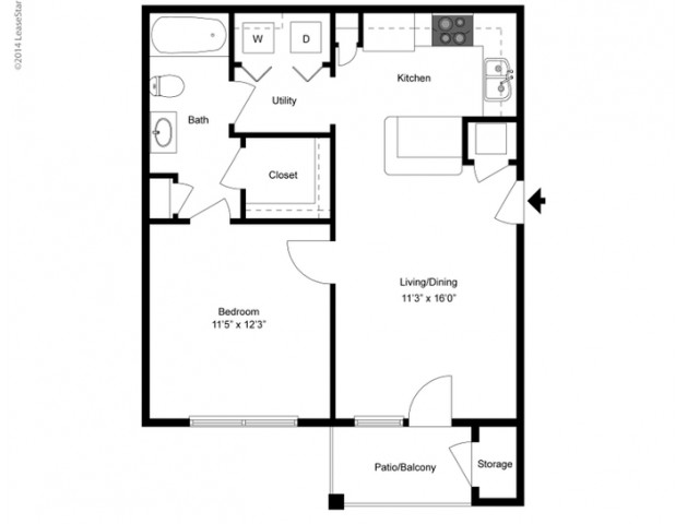 FLoor PLan 2 | Ladson SC Apartments | Cypress River