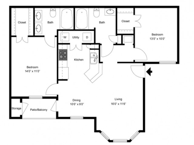 FLoor PLan 4 | Apartments In Ladson SC | Cypress River