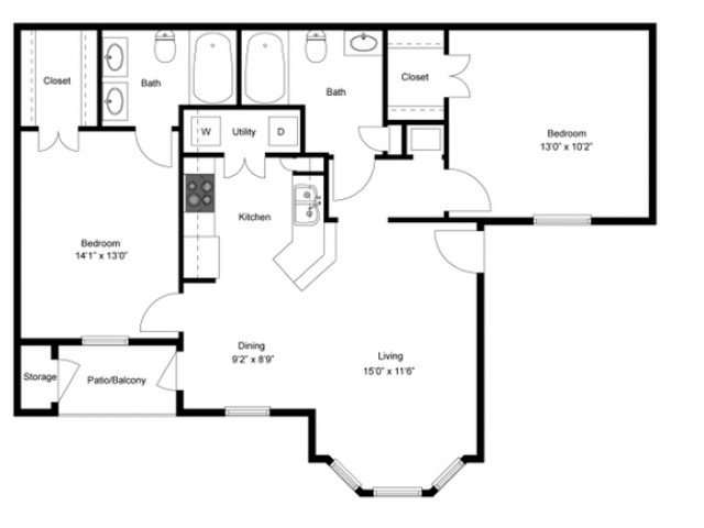 FLoor PLan 5 | Luxury Apartments In Ladson SC | Cypress River