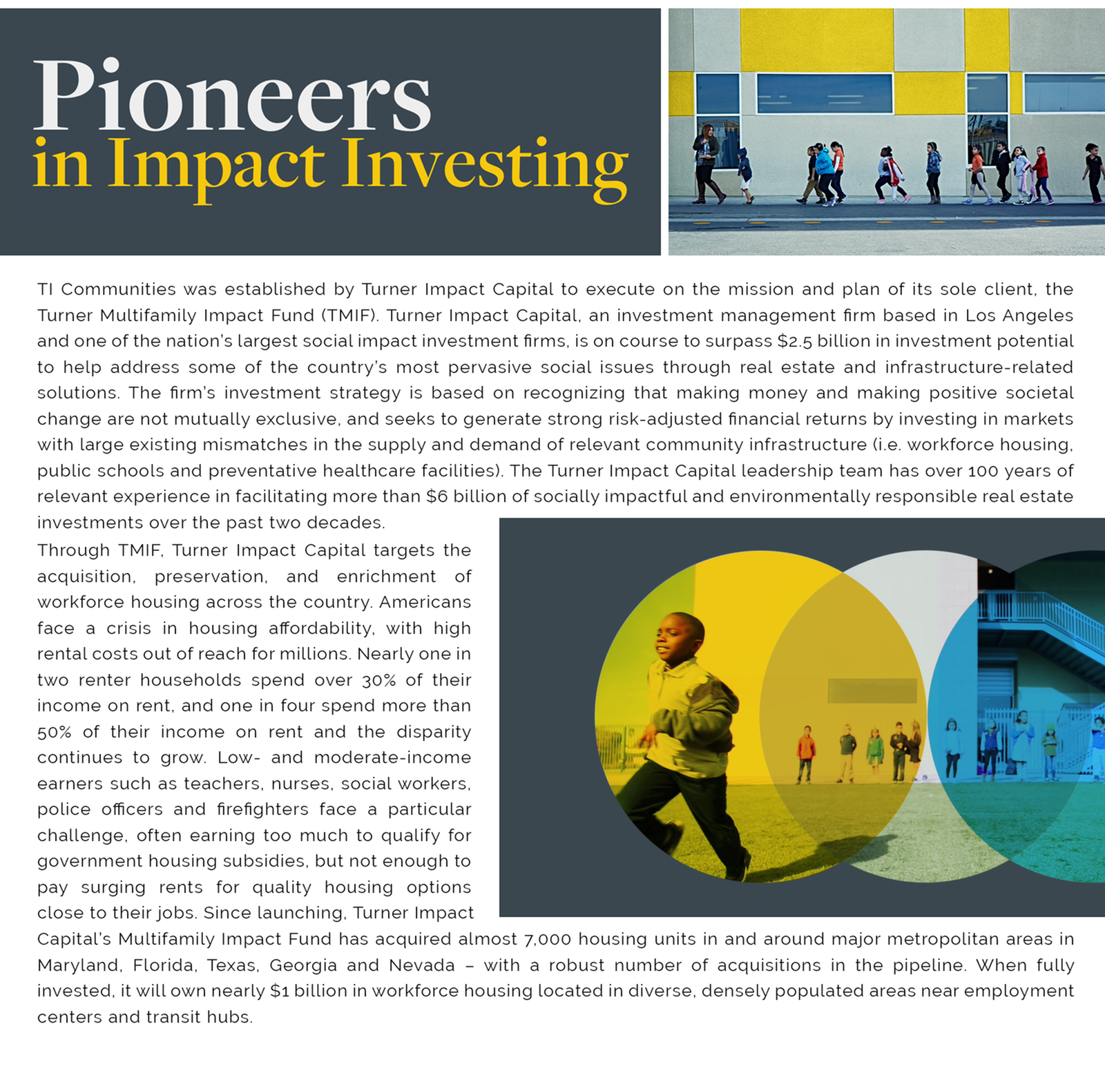 Pioneers in Impact Investing