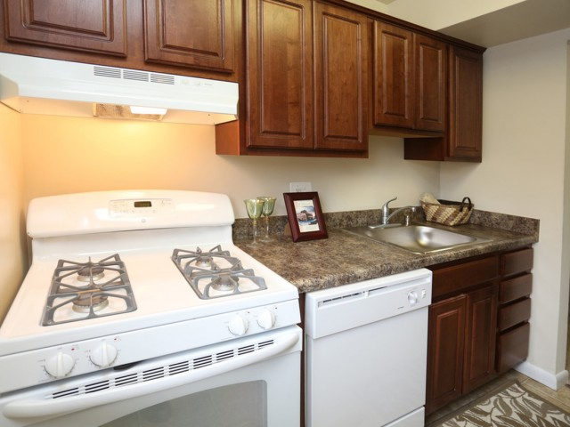 Apartments in Forestville MD-Regency Pointe Kitchen with Plenty of Countertop Space and Cabinet Space with Matching Appliances