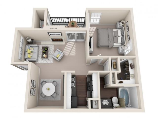 1 bedroom, 1 bathroom apartment home