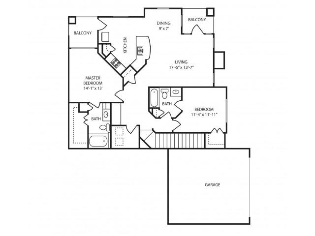 2x2 Floor Plan