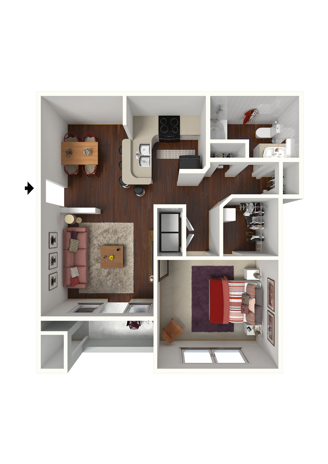 1 Bdrm Floor Plan | 3 Bedroom Apartments Near Atlanta Ga | Lake St. James