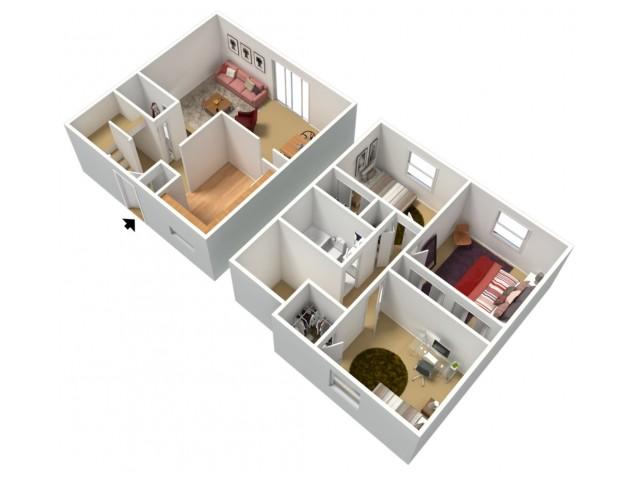 Walnut: Three Bedroom, One and a half Bath