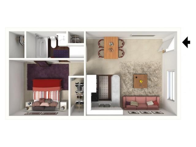 Cypress: One Bedroom, One Bath
