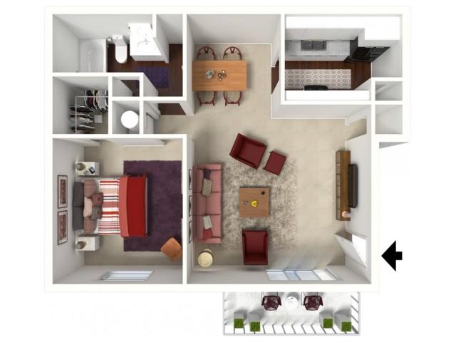 Cedar: One Bedroom, One Bath