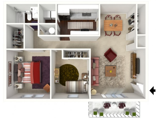 Mulberry: Two Bedroom, One Bath