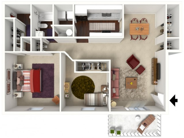Magnolia: Renovated Two Bedroom, Two Bath