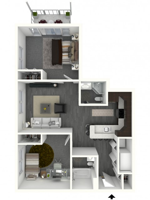 Two Bedroom, Two Bath - Small