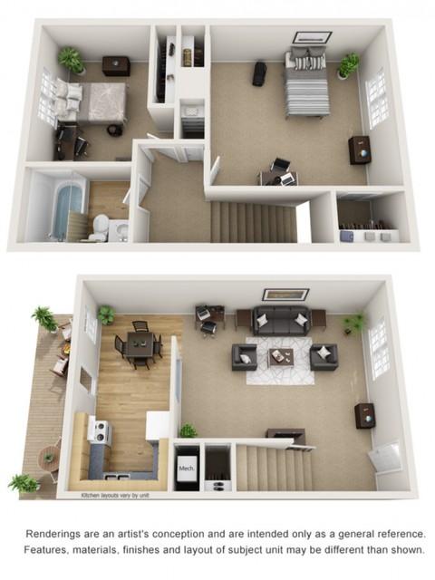 2 Bedroom/1 Bath Carriage House