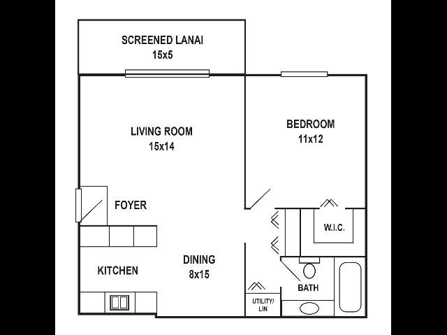 1 x 1 Floorplan