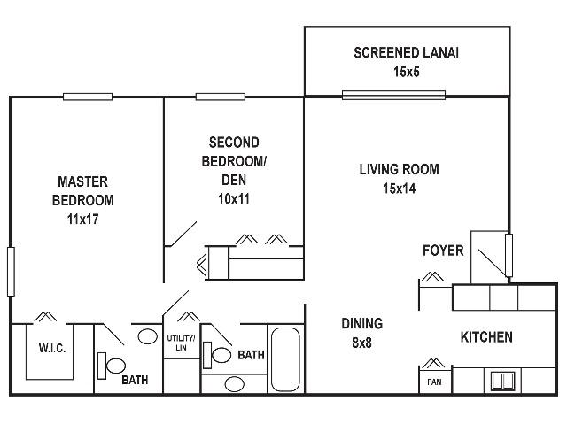2 x 2 Floorplan