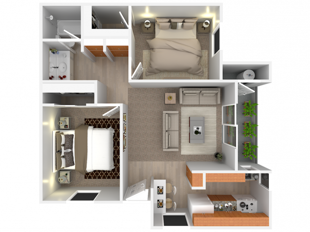 2 Bedroom; 1 Bath; Upstairs
