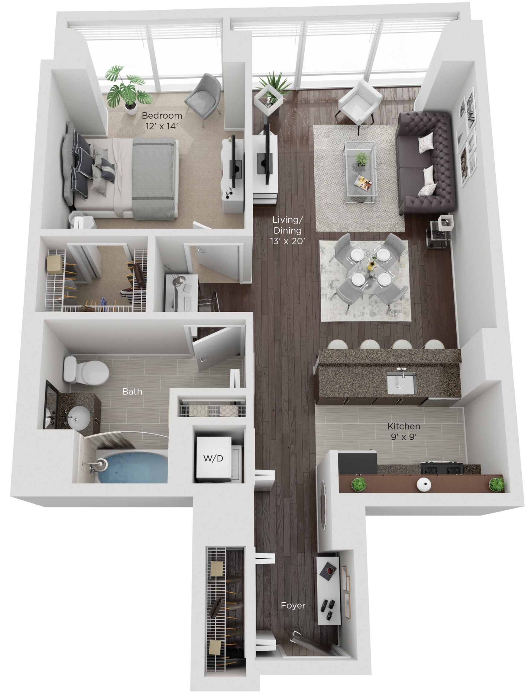Large One Bed Style D