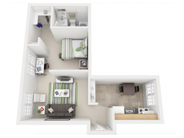 The Hayes 1 Bedroom