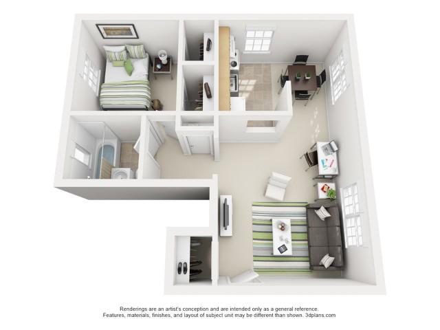 The Swisher 1 Bedroom