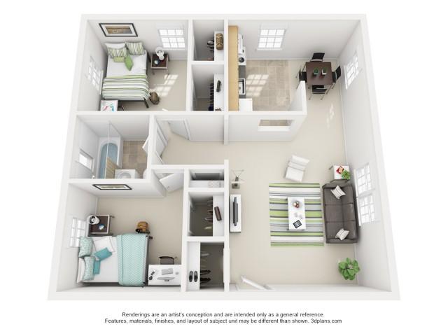 The Heaton 2 Bedroom