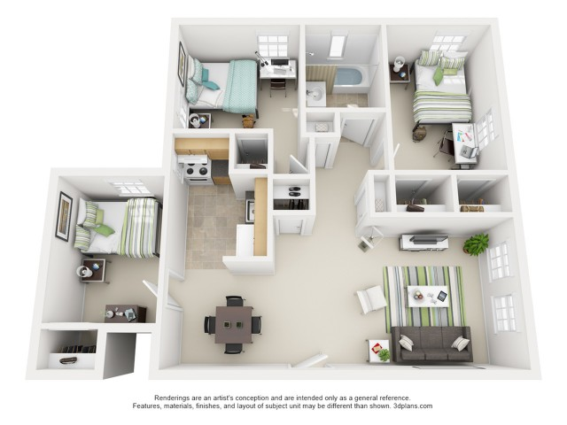 The Griffin 3 Bedroom