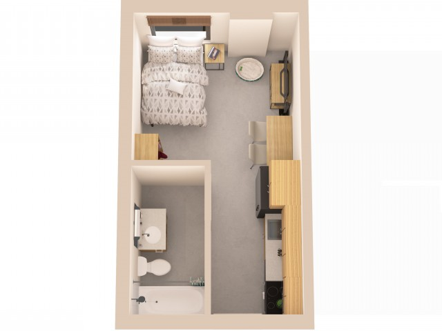 STDIO | Studio1 bath | from 274 square feet