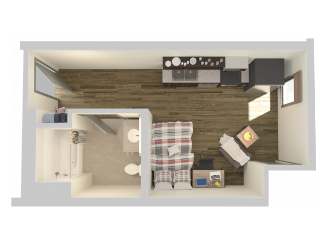 STDST | Studio1 bath | from 416 square feet