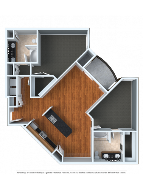 2x2XU | 2 bed 2 bath | from 1280 square feet