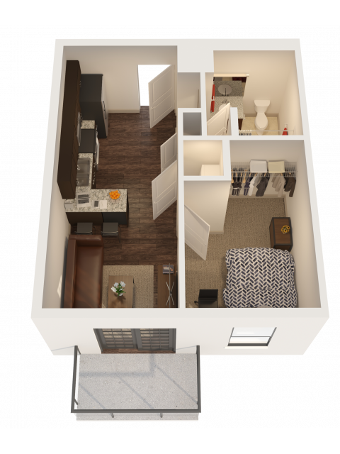1X1   1 bed 1 bath   from 480 square feet