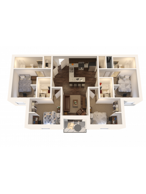 4X4   4 bed 4 bath   from 1281 square feet