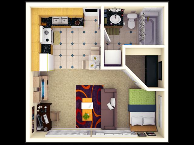 STUDIO | Studio1 bath | from 400 square feet
