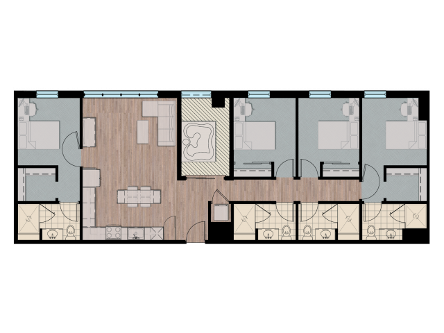 4X4XL   4 bed 4 bath   from 1778 square feet
