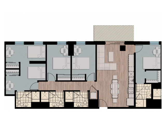 4X5X4   4 bed 5 bath   from 1436 square feet