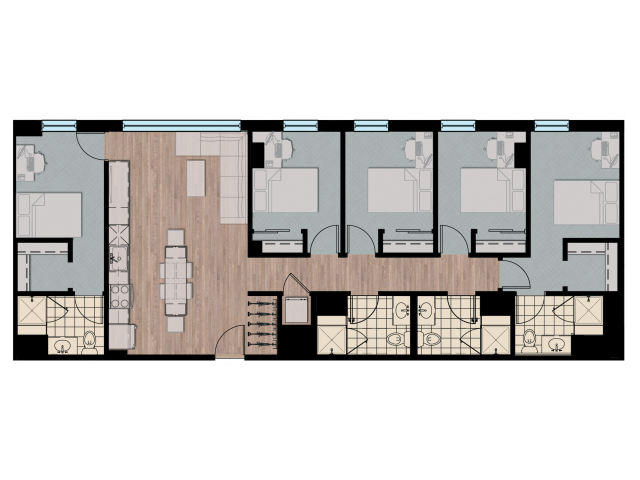 5X4   5 bed 4 bath   from 1521 square feet
