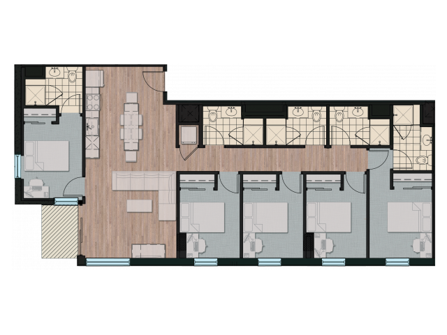 5X5 | 5 bed 5 bath | from 1556 square feet