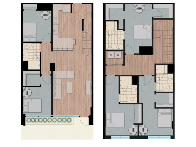 5X4T   5 bed 4 bath   from 2046 square feet