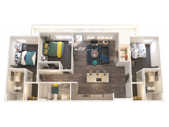3X3 C2 | 3 bed 3 bath | from 1215 square feet