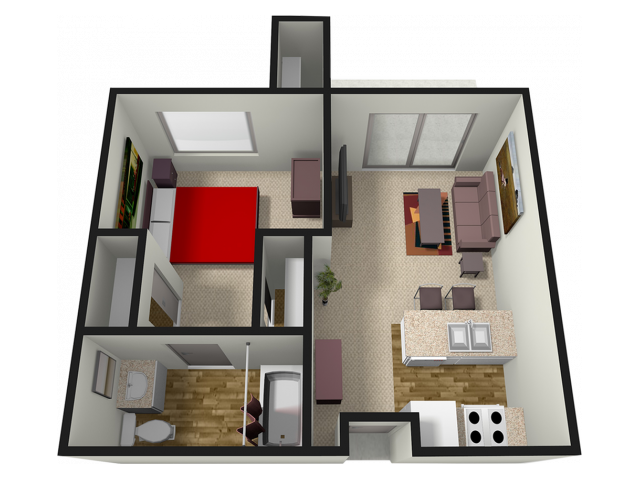 1X1 TOWER | 1 bed 1 bath | from 483 square feet