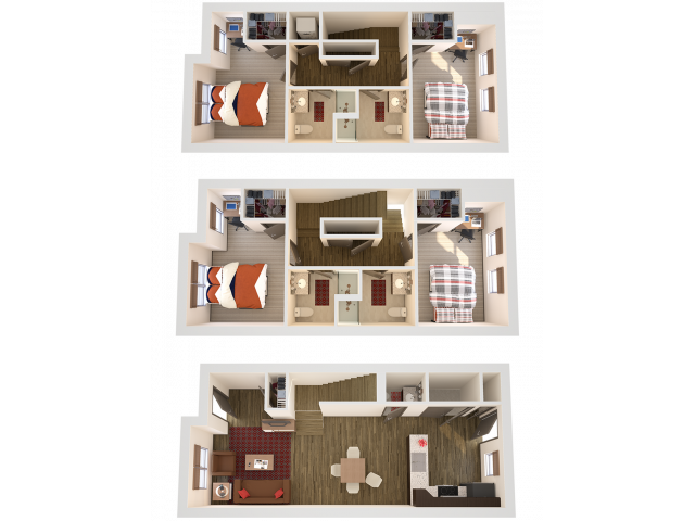 4x4TH | 4 bed 4 bath | from 1729 square feet