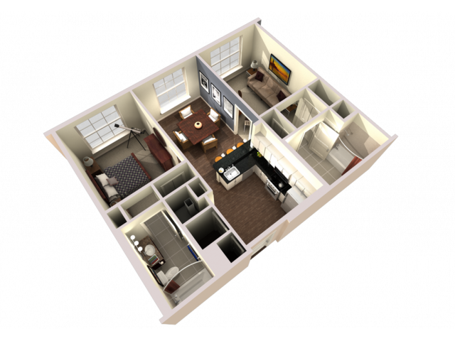 2 Bedroom 2 Bathroom Large