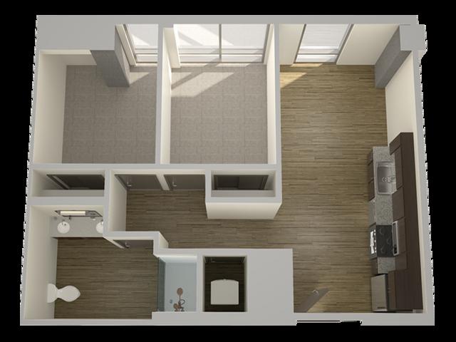 2 Bedroom 1 Bathroom Flat