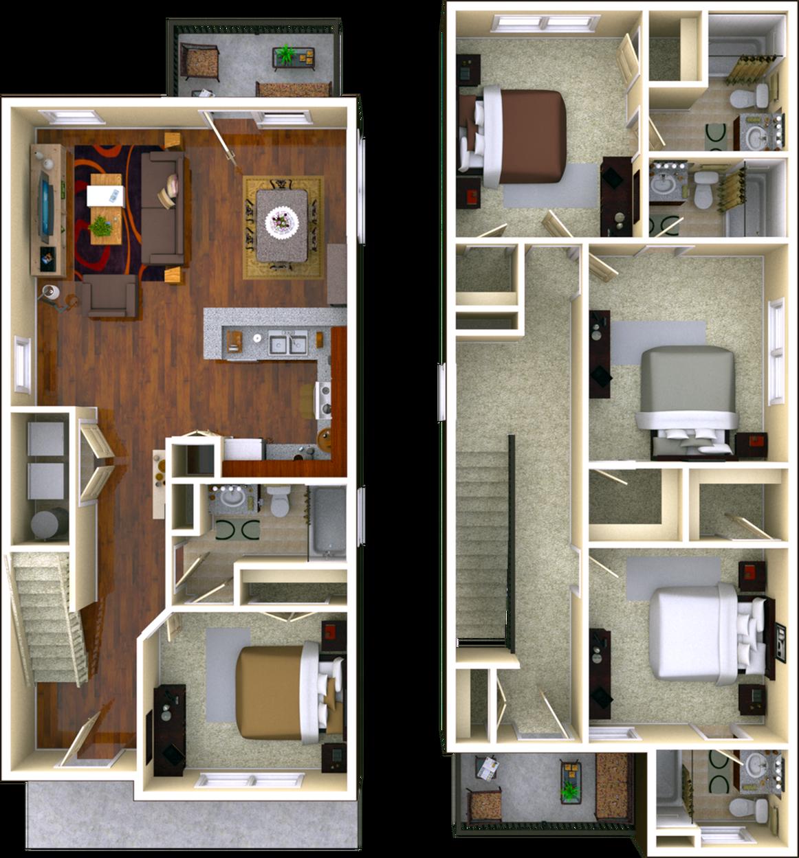 4 Bedroom Floor Plan