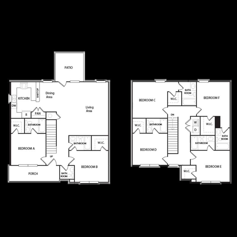 6 Bedroom Floor Plan
