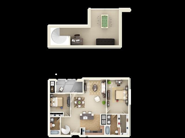 2x2 Large Loft