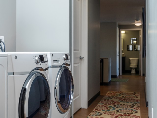 Full-Sized Washer and Dryer Included in Closet